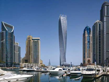 SOM, Cayan Tower, Dubaï, UAE, ph. Tim Griffith