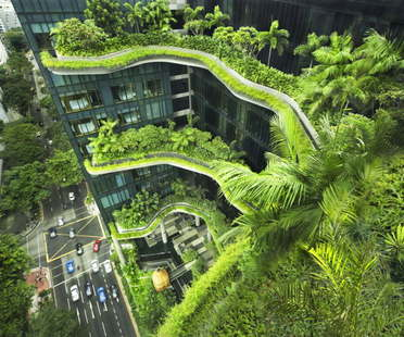 Woha, PARKROYAL on Pickering, Singapour, remporte le CTBUH Urban Habitat Award 2015