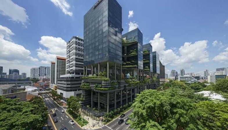Woha, PARKROYAL on Pickering, Singapour, remporte le CTBUH Urban Habitat Award 2015