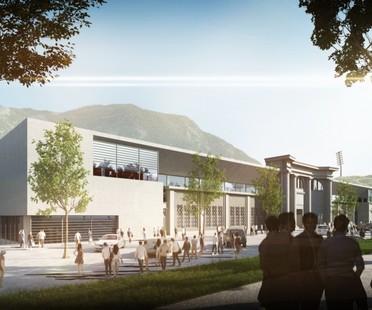 gmp, agrandissement du stade Druso, Bolzano