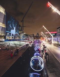 Luminothérapie, Loop, roues géantes et jeux de lumière à Montréal