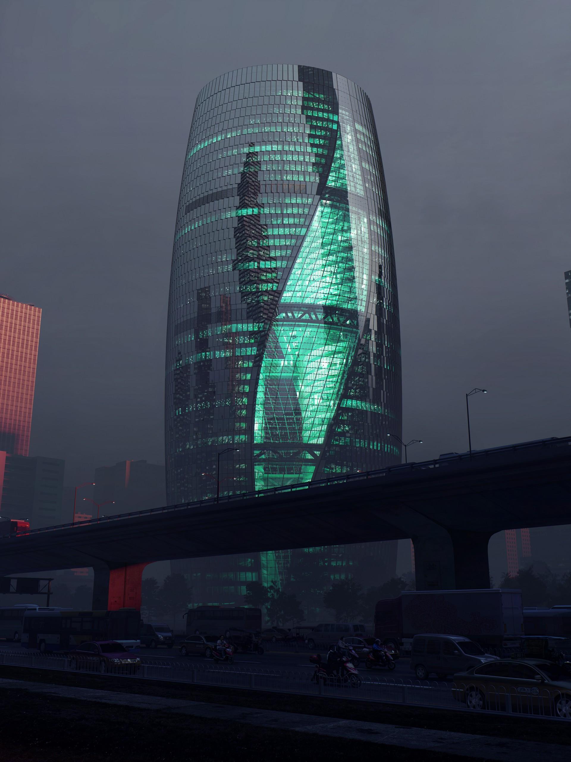 Zaha Hadid Architects Gratte-ciel Leeza SOHO Pékin