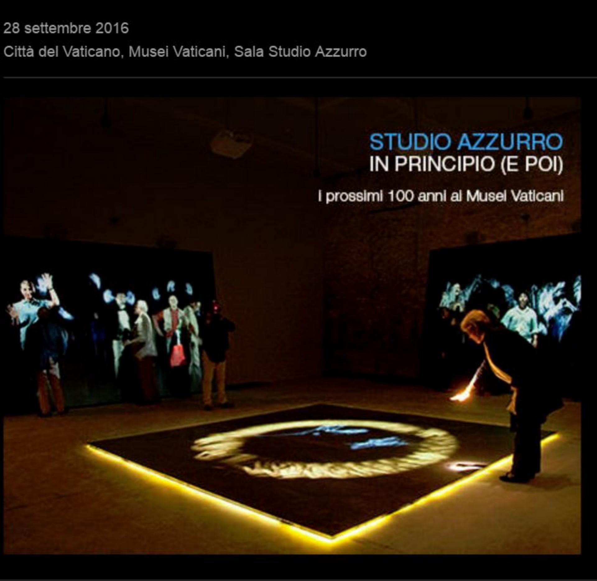 In Principio (e poi), Salle Studio Azzurro, Musées du Vatican