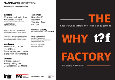 SpazioFMG exposition TU Delft + MVRDV The Why Factory