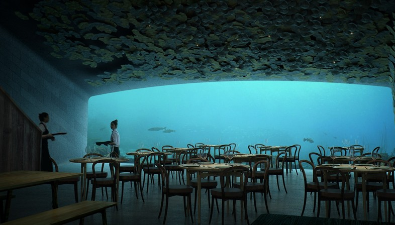 Snøhetta dessine Under le premier restaurant sous-marin d'Europe