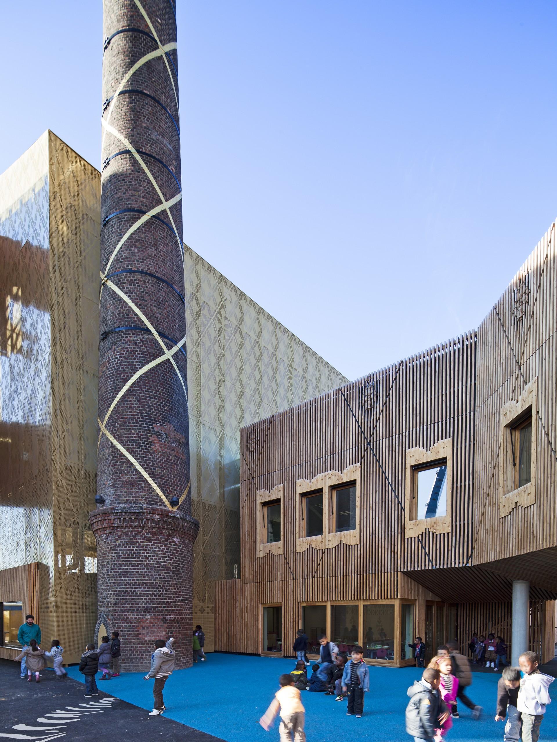 Atelier d'architecture Vincent Parreira Groupe Scolaire Intercommunal Casarès-Doisneau à Saint-Denis