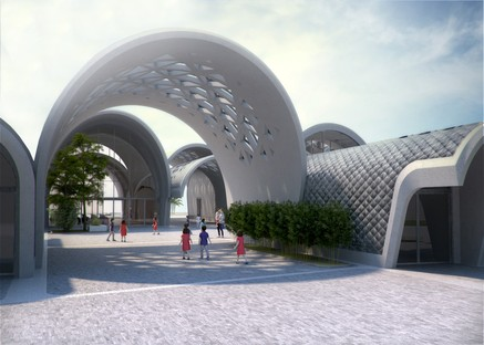 Zaha Hadid Architects Lushan Primary School entre la Chine et Milan