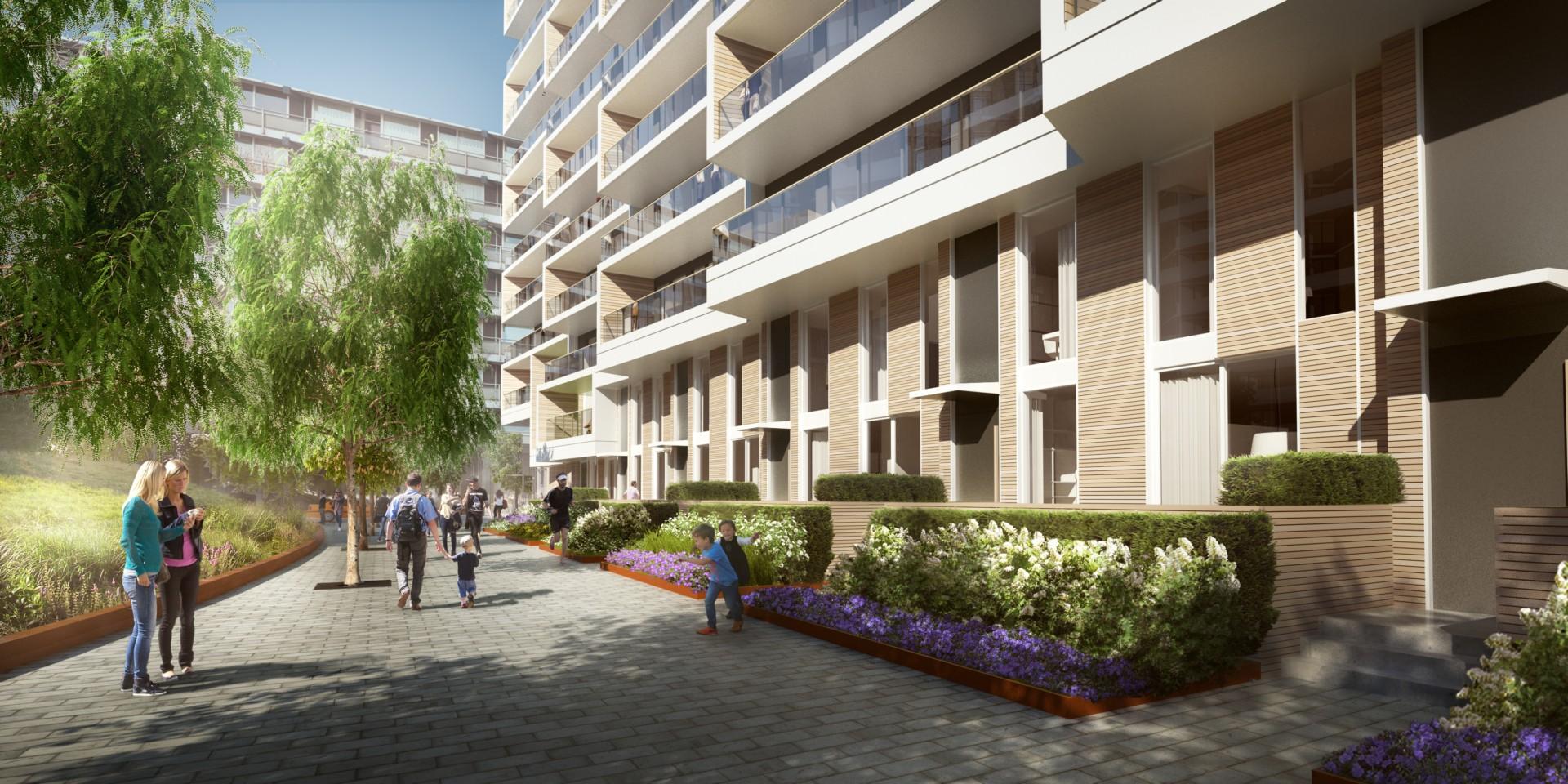 Aquabella et Aqualuna deux projets résidentiels de 3XN Architects pour Toronto