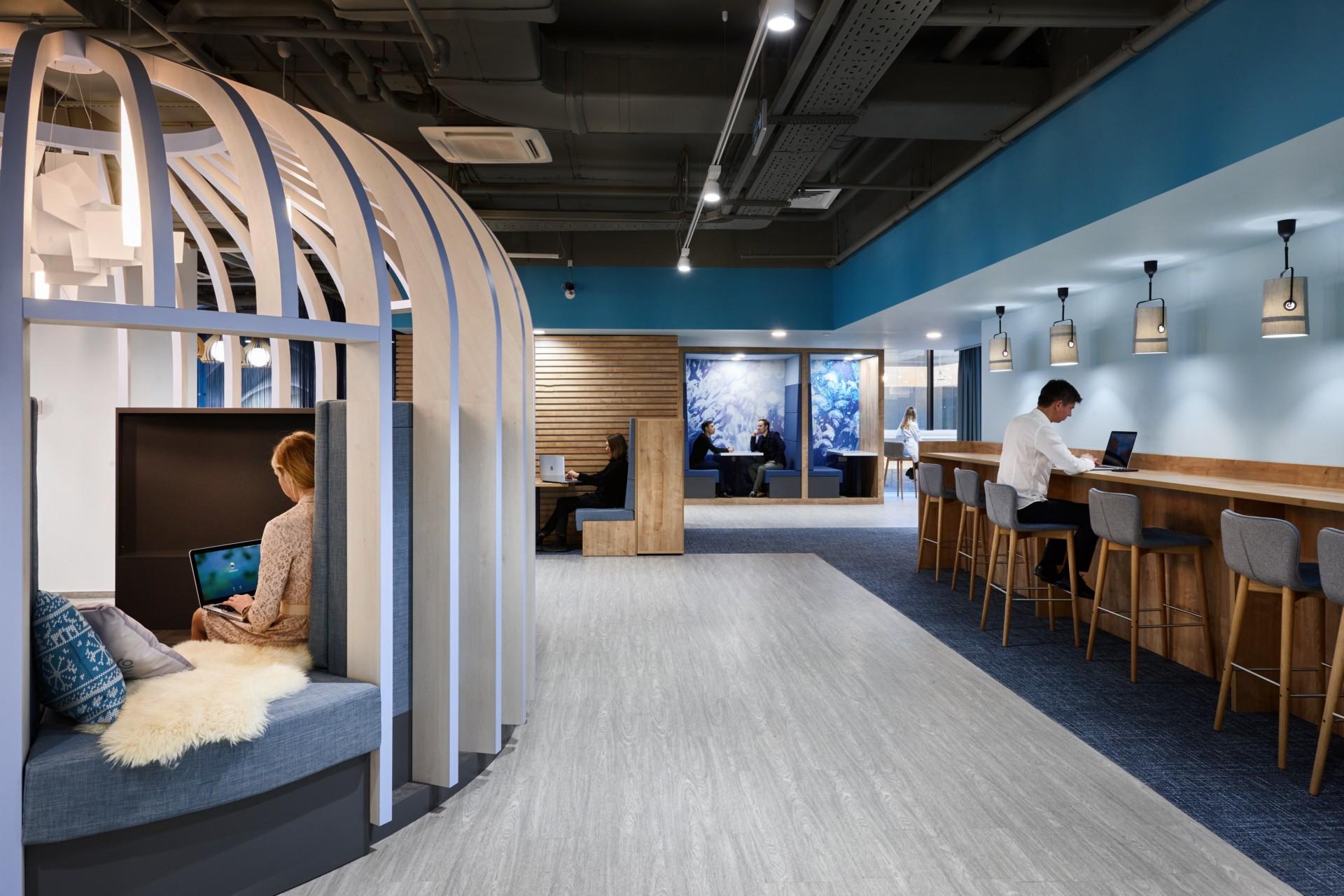 Evolution Design a créé pour Sberbank un siège comme Google