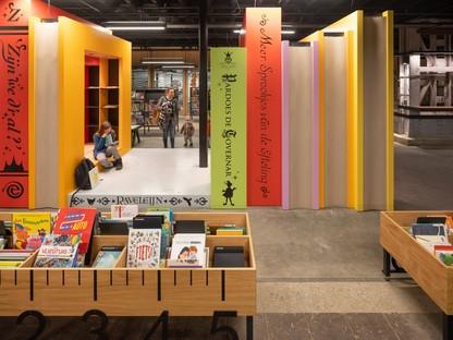 Mecanoo design d'intérieur de la LocaHal Library à Tilbourg