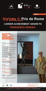Francesco Venezia reçoit le Piranesi Prix de Rome à la Carrière
