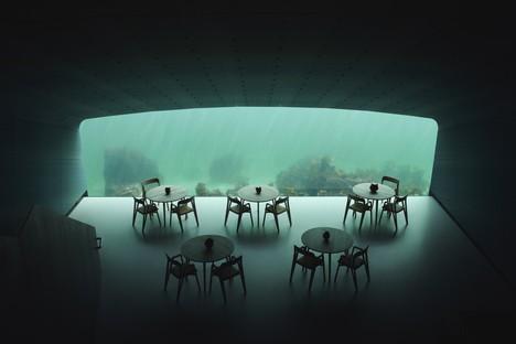 Under le restaurant sous la mer de Snøhetta
