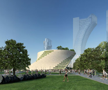 Musée d'Art moderne de Milan.<br /> Projet de Libeskind, sans procédure de concours