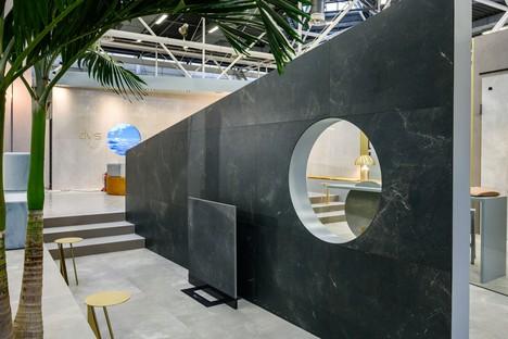 Les nouvelles dalles et les stands d'Iris Ceramica Group au CERSAIE 2019