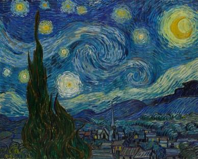 Vincent van Gogh. The Starry Night. Saint Rémy, June 1889. MoMA, New York