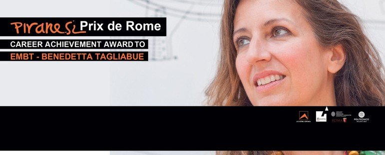 Benedetta Tagliabue du cabinet EMBT remporte le Piranesi Prix de Rome à la carrière