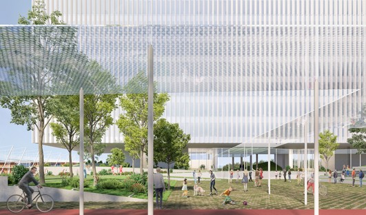 Piuarch Campus Human Technopole nouveau bâtiment de recherche pour l'ancien quartier d'Expo Milano