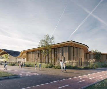 Mario Cucinella Architects nouveau pôle scolaire Campus KID San Lazzaro di Savena