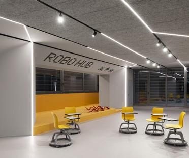 SBG architetti ROBOHUB l'atelier de robotique de l'école Curiel de Rozzano