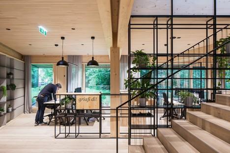 Snøhetta nouveau siège social d'ASI Reisen à Natters