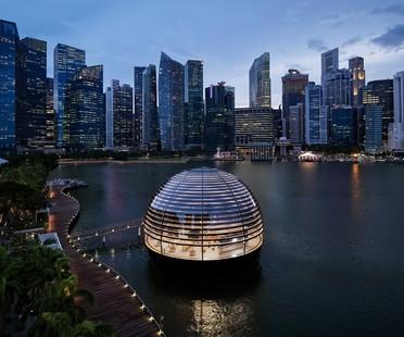 Foster and Partners Apple Marina Bay Sands à Singapour un Apple Store sur l'eau