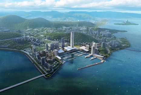 SOM réalise Jiuzhou Bay le nouveau front de mer de Zhuhai en Chine