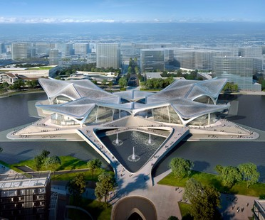 Zaha Hadid Architects Zhuhai Jinwan Civic Art Centre Chine