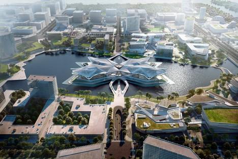 Zaha Hadid Architects Zhuhai Jinwan Civic Art Centre Chine