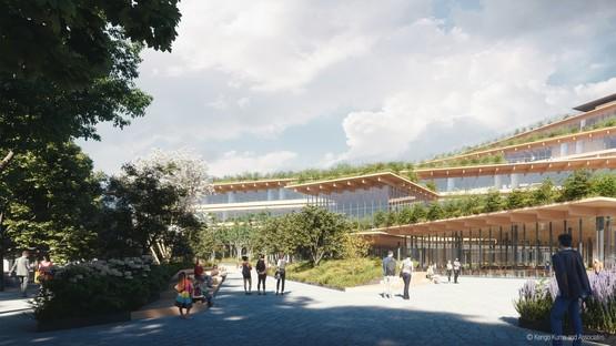 Kengo Kuma & Associates imagine le bureau du futur à Milan