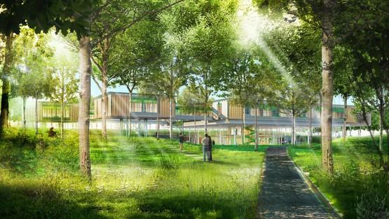 Renzo Piano imagine un centre de soins palliatifs pédiatriques au milieu du feuillage des arbres