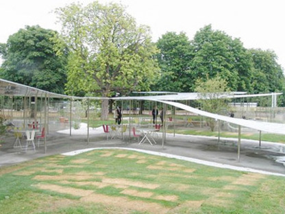Serpentine Pavilion, Londres. L'installation de SANAA est ouverte au public