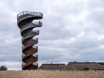 BIG Marsk Tower un nouveau point d'intérêt pour le parc national de la mer des Wadden au Danemark