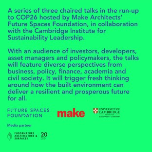 Floornature devient le partenaire média du Cambridge Institute for Sustainability Leadership - Université de Cambridge ainsi que de Future Spaces Foundation