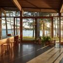 Atelier Pierre Thibault Une maison moderne au bord du lac Brome