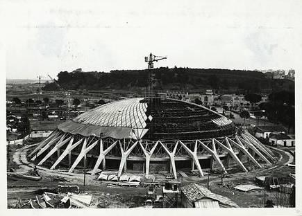 Pier Luigi Nervi, Palais des Sports (Rome). Avec l'aimable autorisation de la Fondation MAXXI