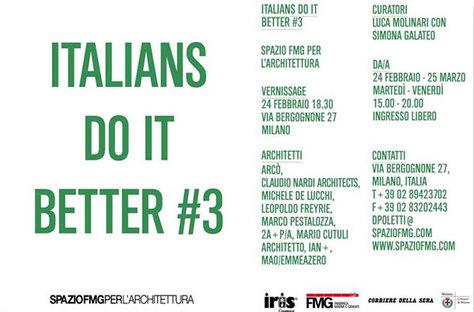 ITALIANS DO IT BETTER #3: L'architecture italienne à l'étranger