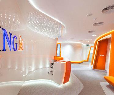 Robert Majkut, projet du design d'intérieur pour une banque