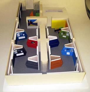 Maquette aménagement de l'exposition : Maquette aménagement de l'exposition