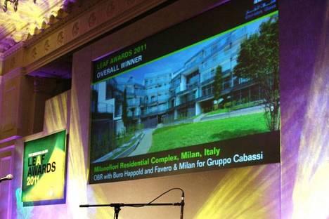 Prix Leaf Awards 2011 à l'agence italienne OBR