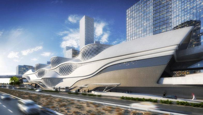 Zaha Hadid, KFDA Metro Station, Riyadh