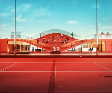 MVRDV, The Couch, Tennis club IJburg, Amsterdam