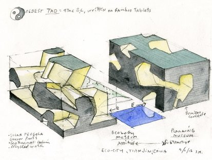 Eco-city, Tianjin, China (both) (c) Steven Holl Architects