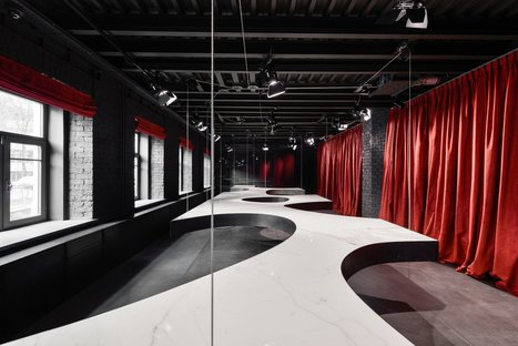 SuperSurfaceSpace Gallery du groupe Iris, projet Metrogramma, Moscou