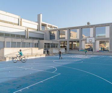 2b architectes : l'agrandissement de l'école de Belmont-sur-Lausanne