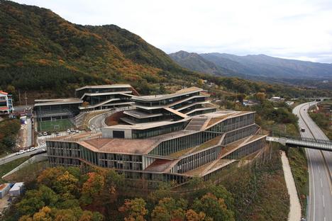Kengo Kuma a conçu l'institut Naver Connect one en Corée