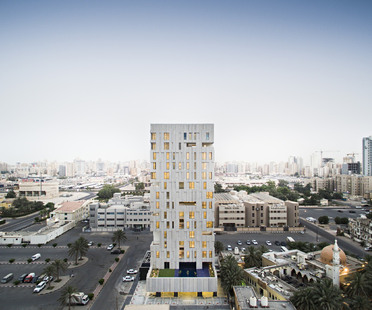 AGi Architects signe Wafra Vertical Housing, la tour du vent à Salmiya