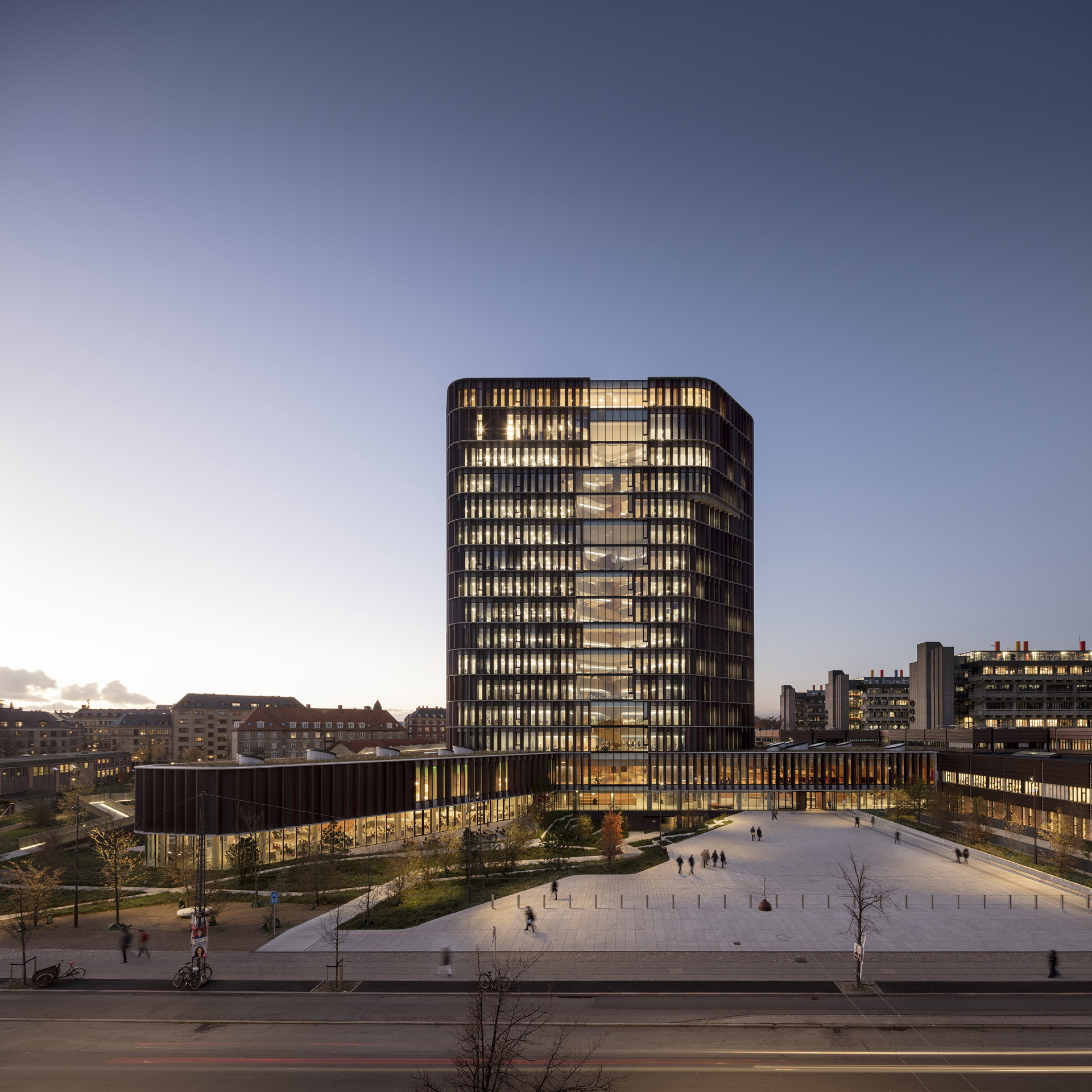 C.F. Møller : tour Maersk, bâtiment Panum à Copenhague.