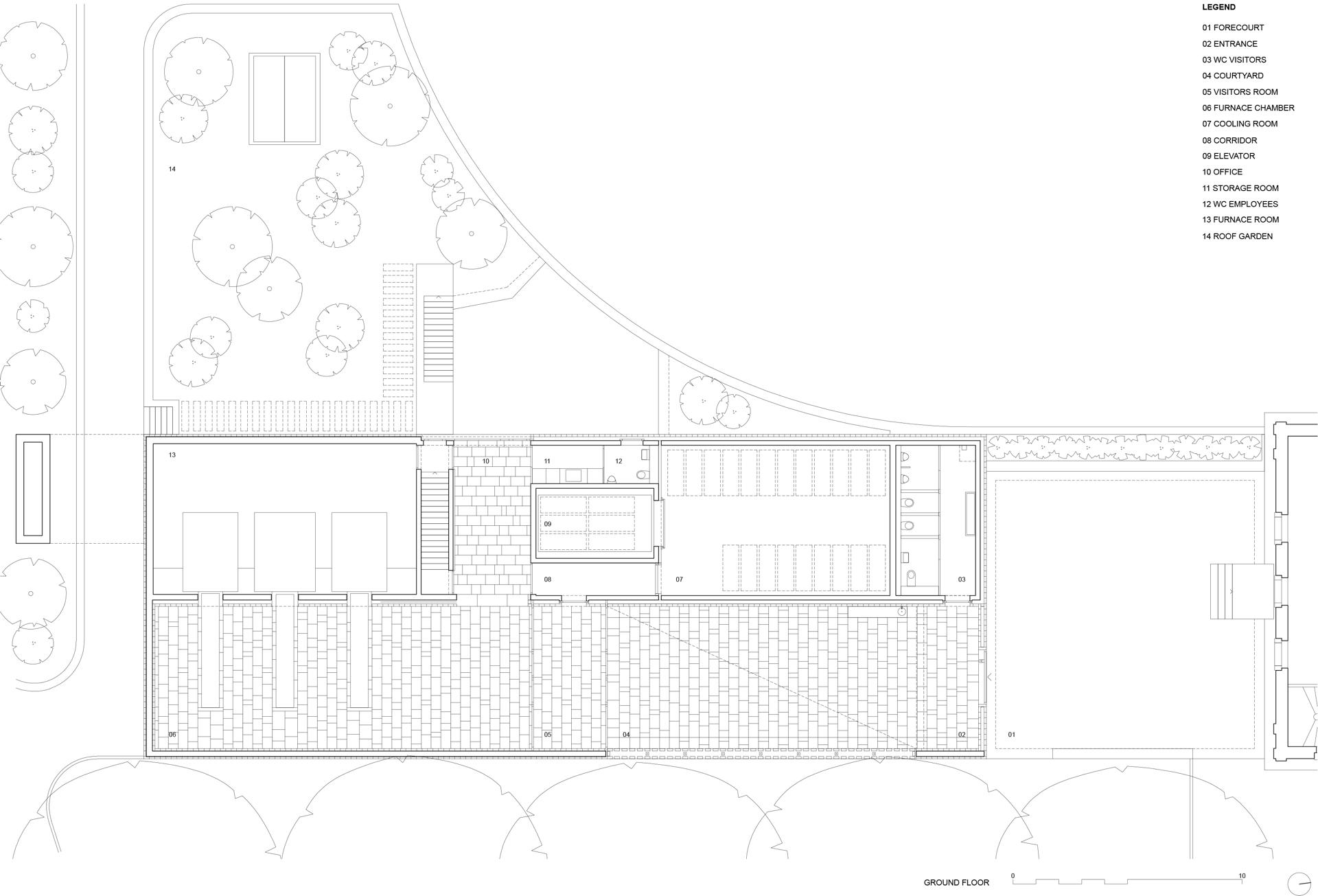 Garrigues Maurer : nouveau crématorium du cimetière de Hörnli (Bâle)