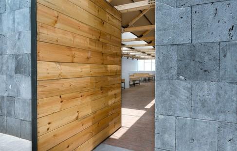 Vrtical pour l'architecture démocratique avec le marché des artisans de Tlaxco