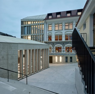 Le cabinet In_Out Architecture de Cathrin Trebeljahr signe l'extension de l'ancienne préfecture de Versoix